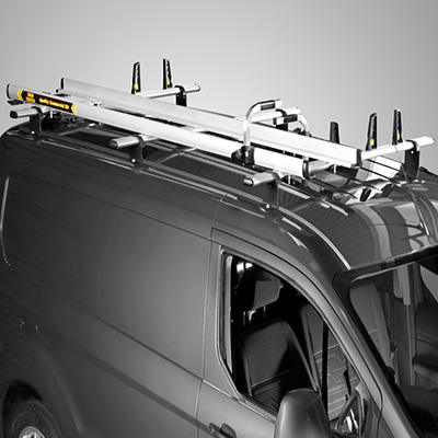 3m aluminium ladder slides with Ladder Securing System for the Volkswagen LT from 1996 - 2006