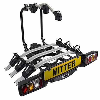 Witter Innovative towball Mounted Tilting 3 Bike Cycle Carrier
