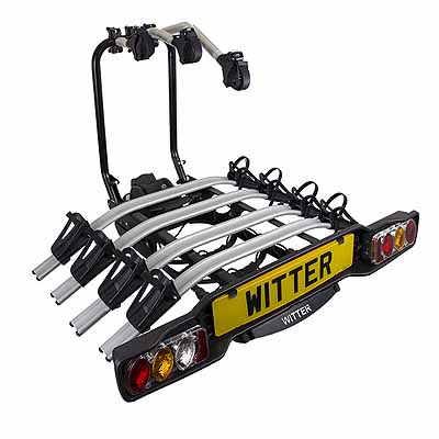 Witter Innovative towball Mounted Tilting 4 Bike Cycle Carrier