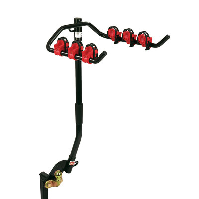 Flange Towbar Mounted Cycle Carrier 3 bikes for vehicle with Spare Wheel overhang up to 110mm
