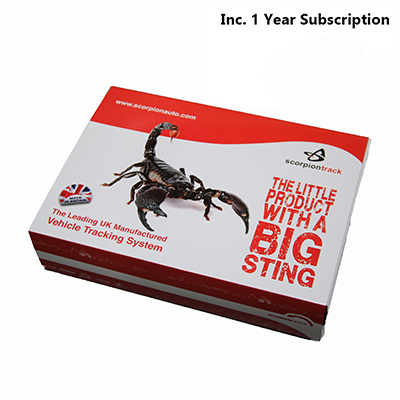 SCORPIONTRACK Stolen vehicle tracking system Category 6 inc. 1 year Discounted Subscription