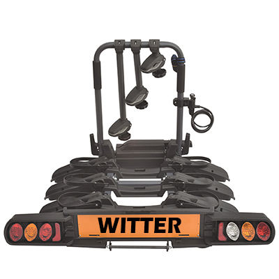 "Witter ""Pure Instinct"" Towball Mounted 3 Bike Cycle Carrier with foldable rails"