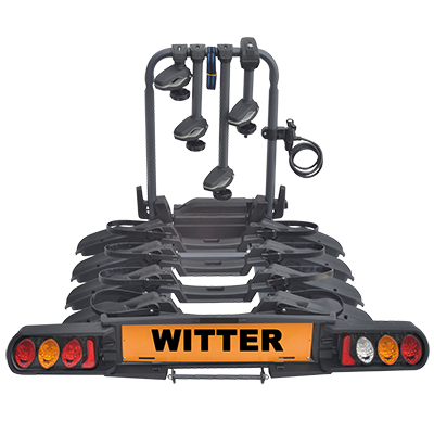 "Witter ""Pure Instinct"" Towball Mounted 4 Bike Cycle Carrier with foldable rails"