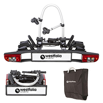 Westfalia BC 60 Towball Mounted Tilting 2 Bicycle Carrier including bag
