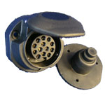 13 pin Socket & Seal (Rear Outlet)